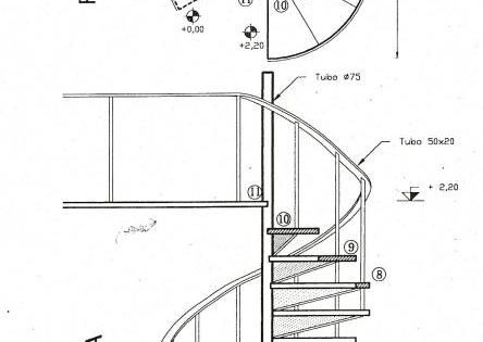 Croquis dimensiones escalera caracol tipo escaleras pinterest escalera caracol croquis y - Dimensiones escalera caracol ...