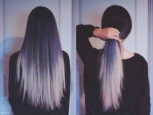 Black Hair With White Ends Hair Styles Long Hair Styles Pretty Hairstyles