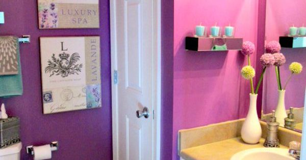 Purple Bathroom Simple Girly Touches To Make This Space Just That Girly