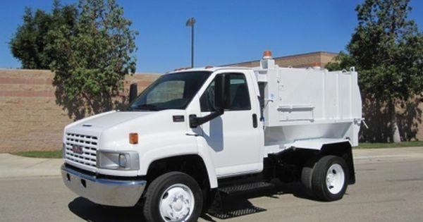 2005 Gmc Topkick C4500 With Wayne Pup 6 Yard Side Loader Garbage Truck For Sale Gm 8 1l Vortec 330hp Gasoline Engine Automa Garbage Truck Trucks For Sale Gmc