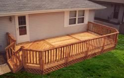 12 X 24 Deck With Lattice Apron Building Plans At Menards Deck Steps Building A Deck Deck Building Plans