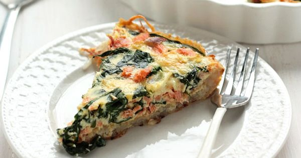 Smoked Salmon Spinach Quiche with Hash Brown Crust | Recipe | Smoked ...