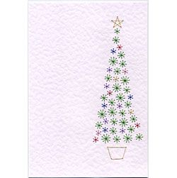 Free Paper Stitching Cards Patterns Tree Bookmarks