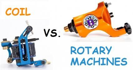 coil tattoo machines vs rotary tattoo machines comparison