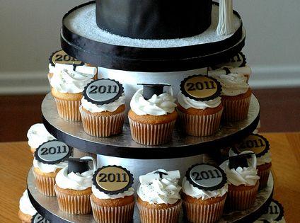 Graduation Party Idea / Graduation Cupcakes / graduation cap.