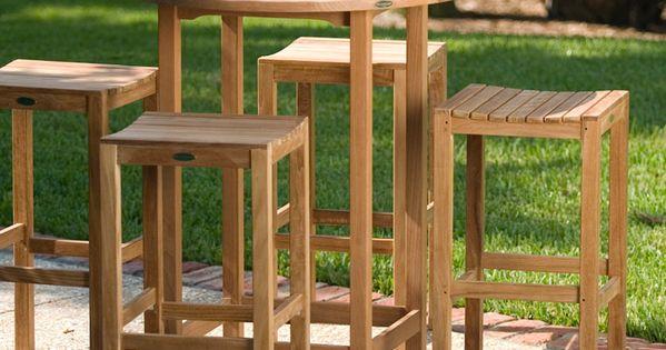 Somerset Teak Bar Stool and Bar Table Set | Bar table sets ...