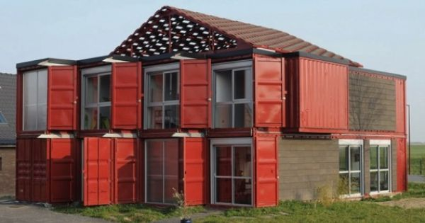 Lille france designed by patrick partouche with eight intermodal shipping container units - Intermodal container homes ...