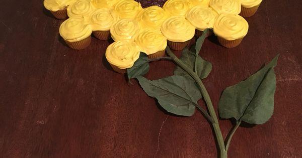 Sunflower Pull Apart Cupcake Cake For Sophia S 2nd