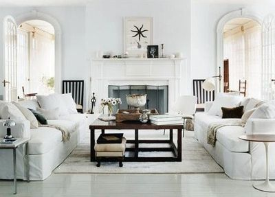 Two Sofas Facing Each Other Google Search Living Room White White Rooms Rustic Living Room