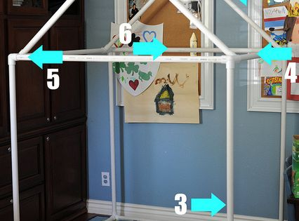 How to make that PVC fort that's all over Pinterest. Reading nook