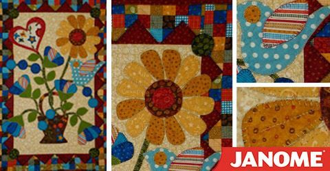 Janome Free Quilting Patterns : Free pattern from Janome - Hearts-Bloom Quilting Pinterest Janome, Free pattern and Patterns