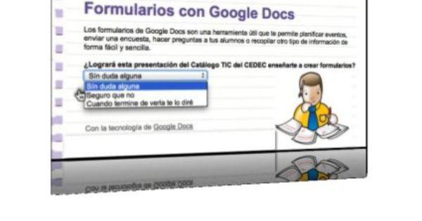 Formularios Google Docs Cedec Google Docs Google Google Apps