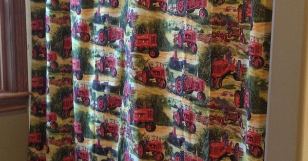 Farmall Red Tractor Shower Curtain Love This Fabric
