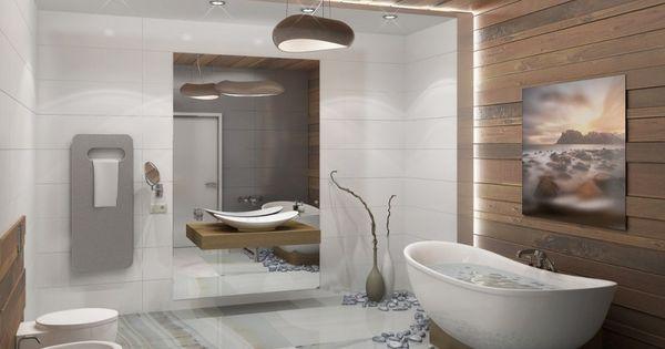 Carrelage mural salle de bain, panneaux 3D et mosaïques!  Design ...