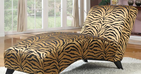 Safari safari animal print chaise by emerald r c willey for Animal print chaise longue