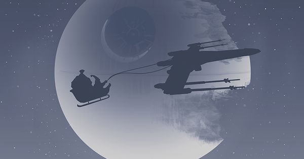 Star Wars Christmas | By: Bart Zimny, via TieFighters (starwars starwarshumor)