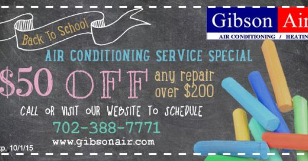 Air Conditioning Coupons Hvac Deals Specials Gibson Air Air