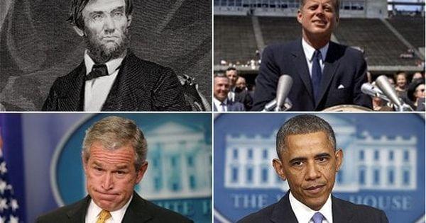 Abraham Lincoln John F Kennedy Barack Obama And George W Bush