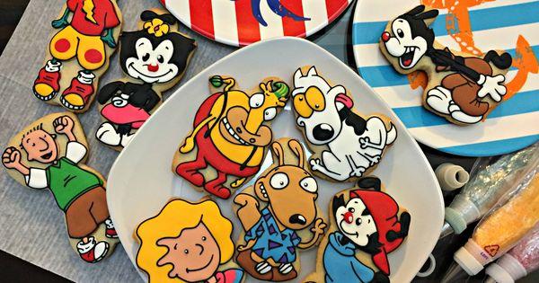 90s cartoons into cookies. | Weird World of My Mind | Pinterest | 90s