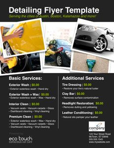 Auto Detailing Flyer And Template Mobile Car Wash Car Detailing Car Wash Business