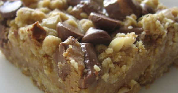 Peanut Butter Oatmeal Bars ~ Includes: brown sugar, oatmeal, peanut butter, Reese's