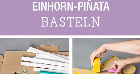 diy anleitung einhorn pi ata basteln via einhorn pinata einh rner und party. Black Bedroom Furniture Sets. Home Design Ideas
