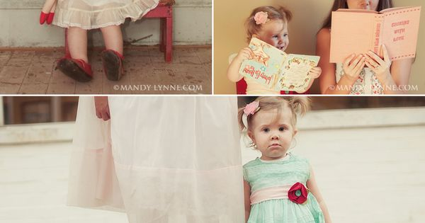 Retro/Vintage style Mother-Daughter photos - precious! Oh my goodness I need to