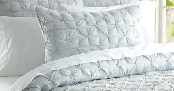 isabelle tufted voile quilt shams pottery barn anvil master bedroom pinterest quilt. Black Bedroom Furniture Sets. Home Design Ideas
