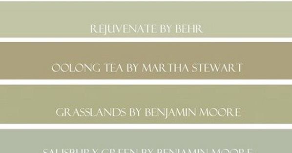 Green Paint Color Ideas Benjamin Moore Dried Parsley