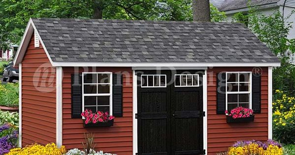 TOUCH This Image 10 X 16 Reverse Gable Shed Plans From