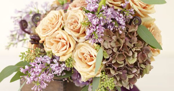 Purple Hydrangea Bouquet (photo: Tara Donne, Flowers: Nicolette Camille)