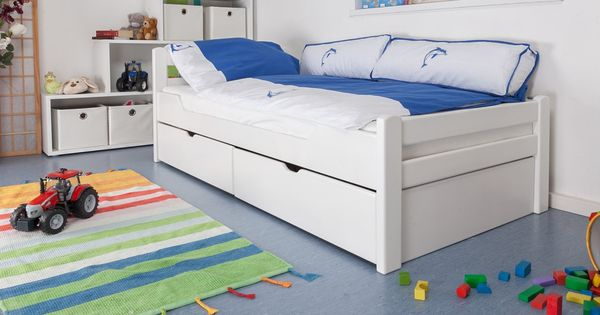 Kinderbett jugendbett easy sleep k1 2n inkl 2 for Jugendzimmer ausziehbett