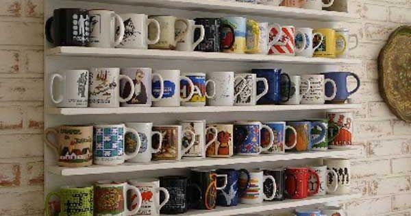 porte tasses porte mugs 17 id es originales copier porte tasse tag res ouvertes et mugs. Black Bedroom Furniture Sets. Home Design Ideas