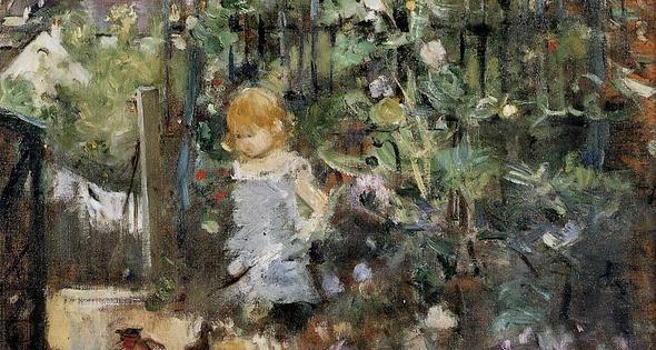 enfant dans le jardin des roses huile sur toile de berthe morisot 1841 1895 france berta. Black Bedroom Furniture Sets. Home Design Ideas