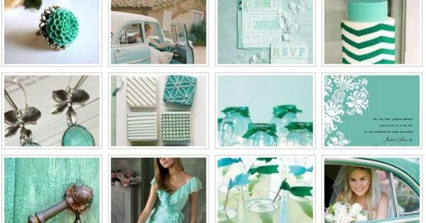 Mint navy and grey Wedding Ideas | Here is another orange palette,
