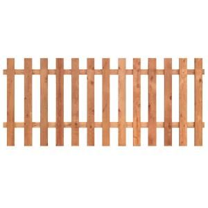 Outdoor Essentials 3 1 2 Ft X 8 Ft Western Red Cedar Spaced Picket Flat Top Fence Panel Kit 241286 Wood Picket Fence Wood Fence Picket Fence Panels