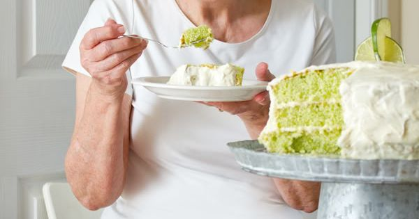 Key lime cake recipe. Secret: Lime Jello gives it the green color,
