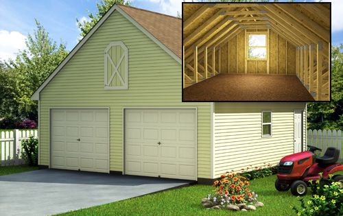 This Garage Floor Plan Not Only Accommodates The Car But