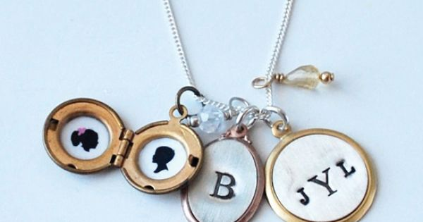 Pinner says: Pieces of Me - Silhouette & Hand Stamped Jewelry from