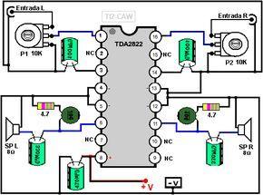 30 W 14 Pines Amplificador Audio 2 Canales Circuito Integrado LA4725
