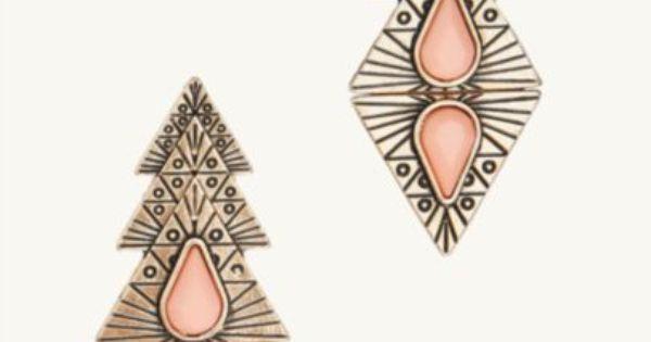 Tribal Triangle Gem Earrings : Earrings : rue21 : Clothes from Rue ...
