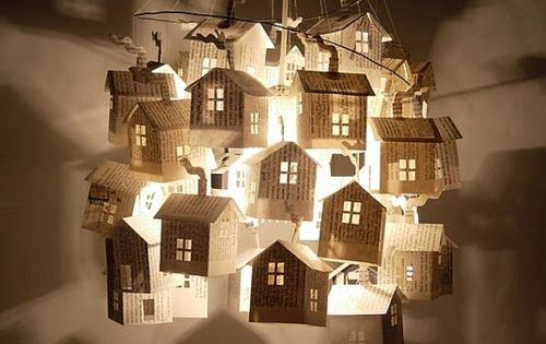 paper house mobile