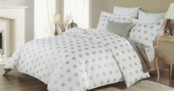 Isaac Mizrahi 3pc Full Queen Duvet Cover Set Large Polka