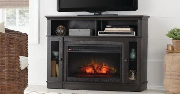 Home Decorators Collection Grafton 46 In Media Console Infrared Electric Fireplace In