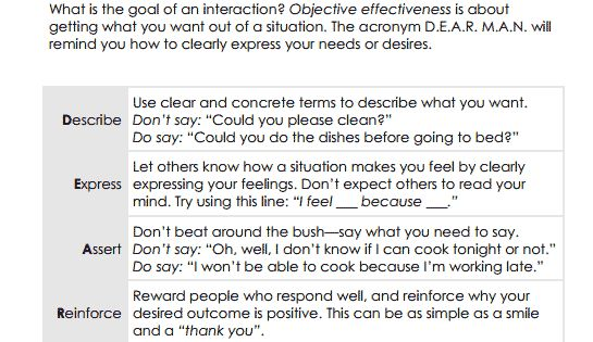 003 DBT Interpersonal Effectiveness Skills Preview therapy
