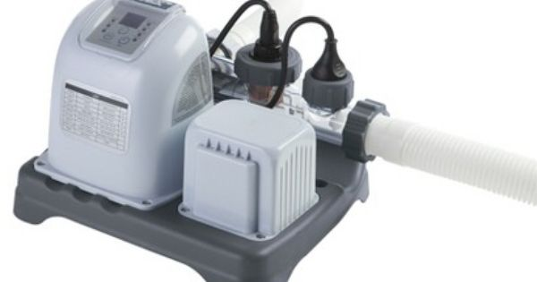 Krystal Clear Saltwater System 078257317042 Intex Therapy Pools Intex Pool Pump