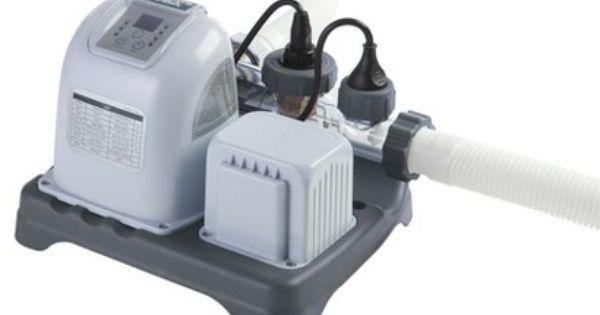 Krystal Clear Saltwater System 078257317042 Intex Therapy Pools Intex Pool Pump
