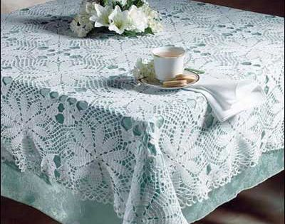 white tablecloth using size 10 thread. Free Crochet Pattern crochet ...