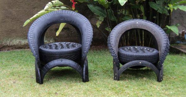 gartendeko selber machen verwenden sie alte autoreifen wieder upcycling pinterest. Black Bedroom Furniture Sets. Home Design Ideas