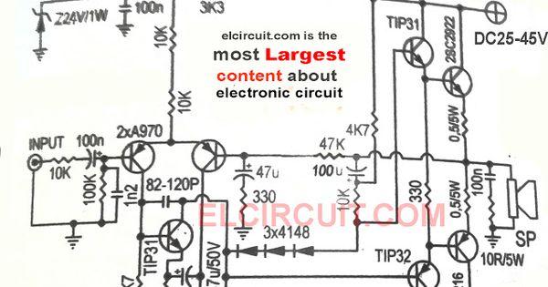 400w power amplifier circuit schematic diagram